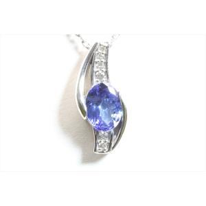 天然 タンザナイト  ダイヤモンド ネックレス PT900/PT850 新品 レディース megumi-1 05