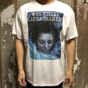 "TWIN PEAKS ""WHO KILLED LAURA"" PRINT TEE デヴィッド・リンチ ツインピークス Tシャツ WHTの画像"