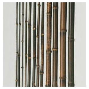 竹材 竹 天然黒竹 防虫処理品 2000x14〜16φ mm|meibokuya-shop