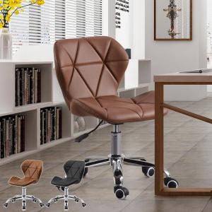 オフィスチェア 腰痛 おしゃれ パソコンチェア 事務椅子 デスクチェア PUレザー 昇降機能付き 360度回転 キャスター付 椅子 チェア 肘無し ブラック ブラウン |meichepro