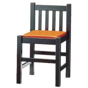 いす 背付 ブナ材 黒 座 茶レザー 9−129−8 メーカー直送/代引不可|meicho2
