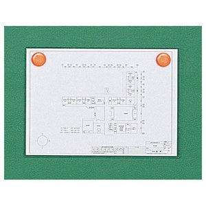 馬印 掲示板2ウェイ(ピン・マグネット) KB23-910 グリーン meicho2 02
