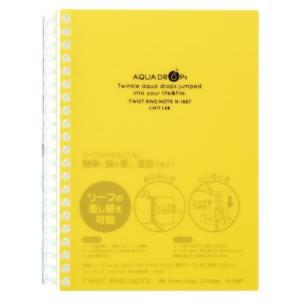 AQUA DROPs ツイストノート   B6判 中紙70枚 N−1667−5 黄