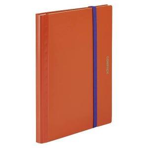 キングジム 二つ折りクリアーファイル コンパック 5ポケット 5894S オレンジ|meicho2