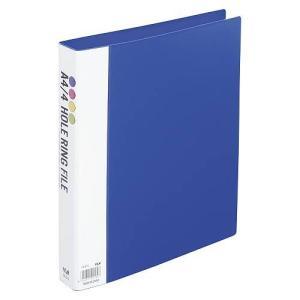 テージー リングファイル A4S 4穴 FR-414-02 ブルー|meicho2