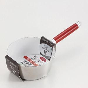 パール金属 セラミックフィール IH対応アルミ行平鍋18cm [ IH対応 オール熱源対応 ] 熱伝導性 耐久性 セラミック加工 調理器具 厨房用品 meicho2