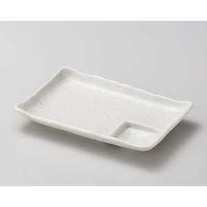 【まとめ買い10個セット品】和食器 ヤ147-226 白砂 6.0仕切皿 【キャンセル/返品不可】|meicho2