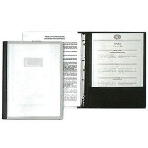 SHIMBI シンビ アクリルインフォメーションブック A4サイズ 8ページ仕様 黒 meicho2