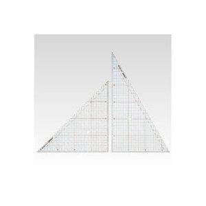 方眼三角定規 CR-HR300 クラウン【 事務用品 デザイン用品 画材 三角定規 】 meicho2