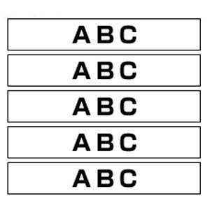 ピータッチ用テープカートリッジ ピータッチ用HGテープ白/黒文字 5本 ラミネートテープ 8m HGe-261V 本体色:白 黒文字 ブラザー meicho2