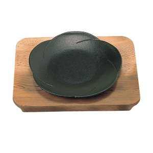 【即納】 三和 和風ステーキ皿 梅 焼杉 20cm|meicho