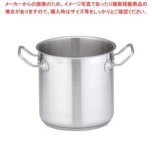 【 寸胴鍋 】 ステンレス 蓋無 18cm IH|meicho