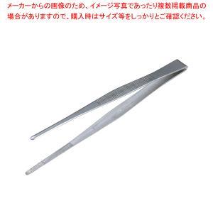18-0ステンレス製 ピンセット180mm 長さ:180mm●業務用通販カタログコード:3-0336...