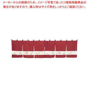 カウンターのれん 松葉ちらし 118-10 えび茶|meicho