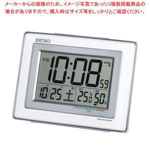 セイコー 温湿度計付 電波目覚まし時計 SQ686W|meicho