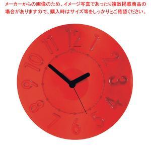 グッチーニ ウォールクロック 0499.0065 レッド|meicho