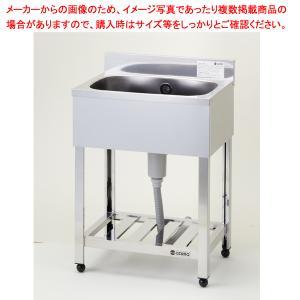 【 即納 】 シンク 業務用一槽シンク 東製作所 アズマ KP1-600 600×450×800 メーカー直送/代金引換決済不可|meicho