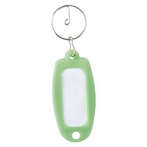 キーホルダー付名札 プラスチック製 マーキー単色 黄緑 1個|meicho