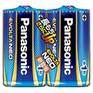 パナソニック アルカリ乾電池 エボルタネオ 単1形 2本 シュリンクパック LR20NJ/2SE|meicho