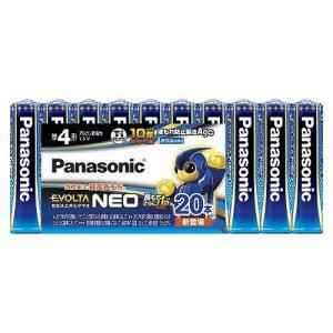パナソニック アルカリ乾電池 エボルタネオ 単4形 20本 お買い得パック LR03NJ/20SW|meicho