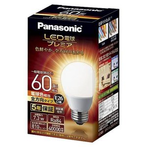 パナソニック LED電球 プレミア 全方向タイプ 60W 電球色 LDA7LGZ60ESW2|meicho