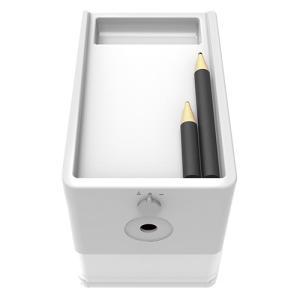 ナカバヤシ 電動鉛筆削り スリムトレータイプ DPS-601W ホワイト