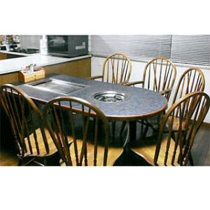 業務用ガス式お好み焼き・鍋物テーブル KD-1800GS メーカー直送/代引不可|meicho
