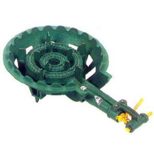 鋳物コンロ ガス式鋳物バーナーセット 二重型羽根無|meicho