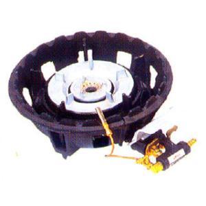 鋳物コンロ ガス式ハイカロリーバーナー 二重型卓上用種火付|meicho