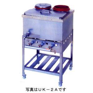 業務用ガス式うどん銅庫 カラン式 ステンツボ付 メーカー直送/代引不可|meicho