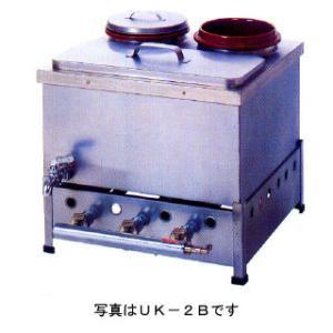業務用ガス式卓上型うどん銅庫 カラン式 ステンツボ付 メーカー直送/代引不可|meicho