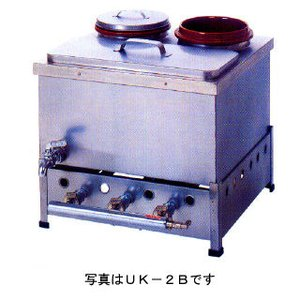 業務用ガス式卓上型うどん銅庫 カラン式 せとつぼ付 メーカー直送/代引不可|meicho