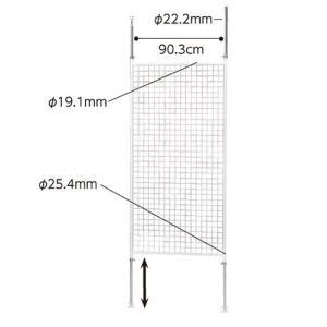 ディスプレーネット 長ネットタイプ W90cm 白 【メーカー直送/代金引換決済不可】|meicho