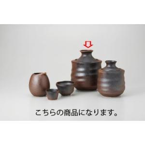 和食器 黒信楽 酒燗器(大) 35A282-17 まごころ第35集 【キャンセル/返品不可】|meicho