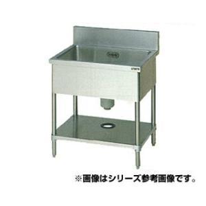 業務用シンク 一槽 マルゼン BG有 W900×D600×H...