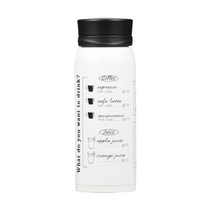 パール金属 カフェマグメニュー マグボトル350(ホワイト)