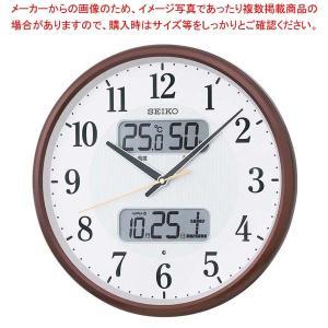 【まとめ買い10個セット品】 セイコー カレンダー温湿度表示付掛時計 電波クロック KX383B【 メーカー直送/代金引換決済不可 】|meicho