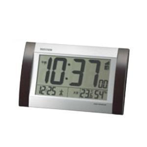 【まとめ買い10個セット品】 リズム 掛・置兼用電波時計 フィットウェーブD169 8RZ169SR23【 メーカー直送/代金引換決済不可 】 meicho
