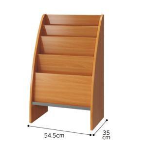 【まとめ買い10個セット品】木製マガジンスタンド W54.5cm 4段 ナチュラル 【メーカー直送/代金引換決済不可】|meicho