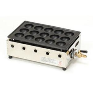 テーブルコンロ たこ焼器15穴  ●LPガス:1.06kw、0.08kg/h、910kcal/h ●...