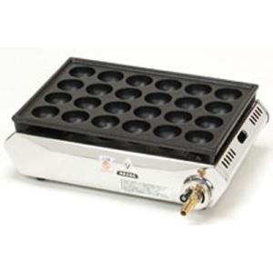 テーブルコンロ たこ焼器24穴  ●LPガス:1.47kw、0.11kg/h、1260kcal/h ...