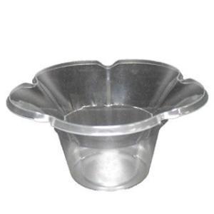 業務用かき氷機用 かき氷カップ プラスチックカップ フルールカップ(透明) 80個|meicho