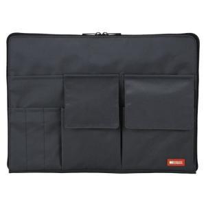 バッグインバッグ A4 黒 A-7554-24 本体色:黒 リヒトラブ【 ファイル ケース ケース バッグ インナーバッグ 】