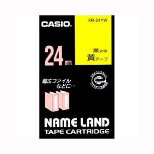 ネームランド用テープカートリッジ ネームランドテープ XR-24YW 本体色:黄 黒文字 カシオ【 オフィス機器 ラベルライター ネームランドテープ 】 meicho