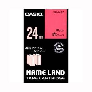 ネームランド用テープカートリッジ ネームランドテープ XR-24RD 本体色:赤 黒文字 カシオ【 オフィス機器 ラベルライター ネームランドテープ 】 meicho