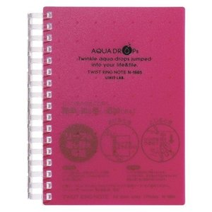 AQUA DROPs ツイストノート   A6判 中紙70枚 N−1665−3 赤