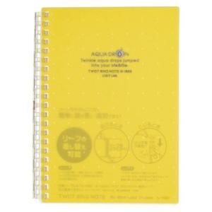 AQUA DROPs ツイストノート   B6判 中紙30枚 N−1669−5 黄