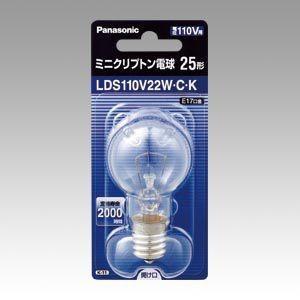 ミニクリプトン電球 E17口金 25形 LDS110V22WCK パナソニック【 生活用品 家電 電池 照明 家電 電球 】|meicho