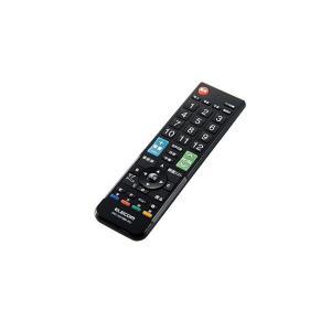 ELECOM/エレコム かんたんTVリモコン/12メーカー対応/Mサイズ/ブラック ERC-TV01MBK-MU|meidentsu