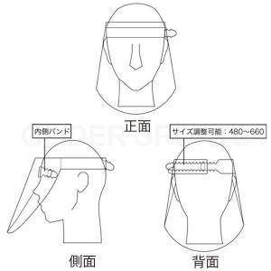 日本製 フェイスシールド 250枚セット (1枚あたり248円)  飛沫防止 透明シールド 新型コロナ対策 ウィルス対策 花粉症  フェイスガード|meijie-ec|04